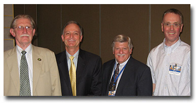 Drs. Dwight Bowman (President), Bob Arther (Secretary/Treasurer), Alan Marchiondo (Immediate Past-President) and Andrew Peregrine (President Elect and 2014 Program Chair). Not pictured, Dr. Ray Kaplan (Vice President).